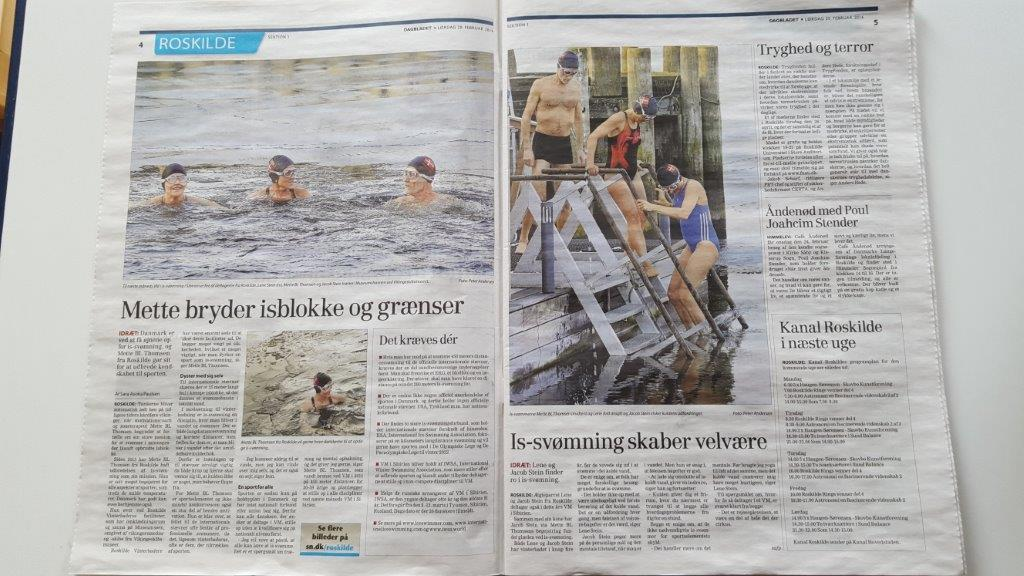 DAGBLADET sætter fokus på vinter-is-svømning