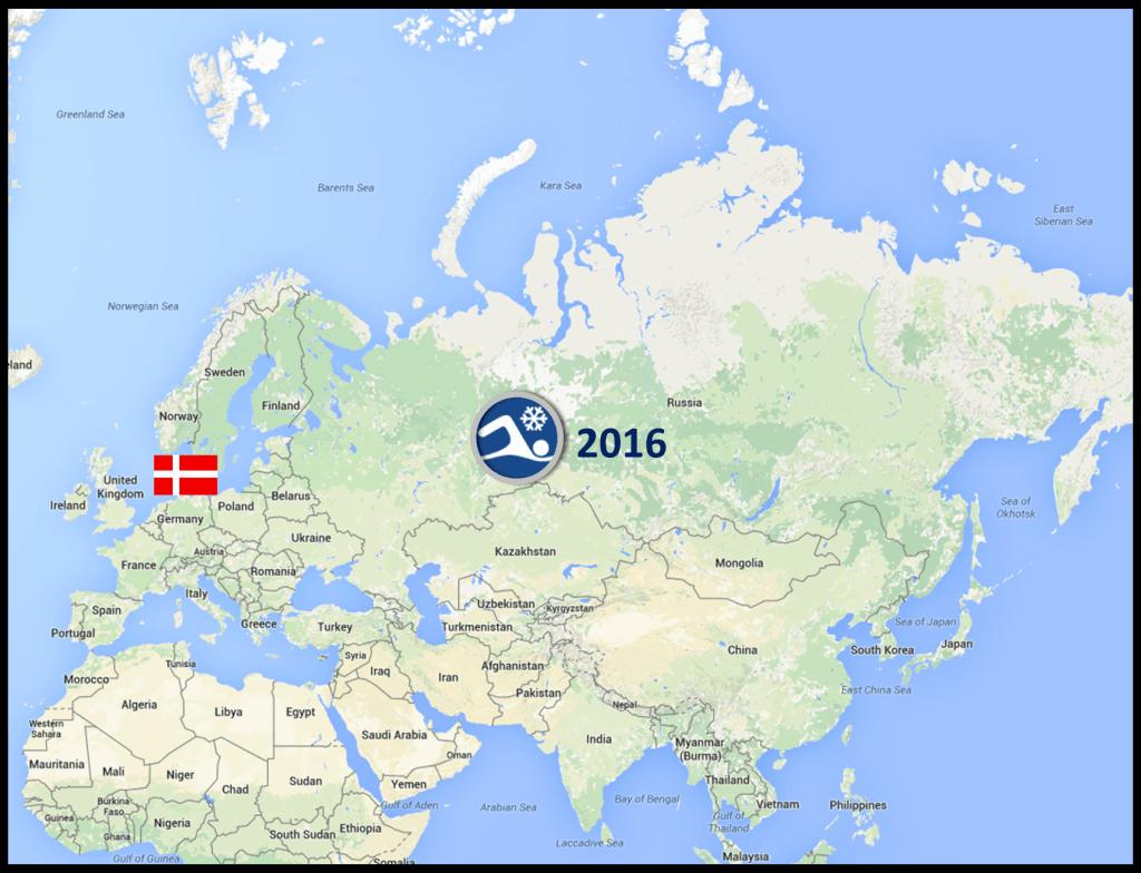 VM i issvømning blev afholdt d.8.-12. marts 2016 i den Sibiriske by Tyumen.
