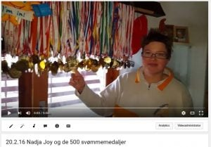 YouTube Nadja Joy og de 500 medaljer