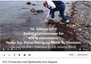 YouTube Træningpas i Storebælt med Slagelse Avis (2)