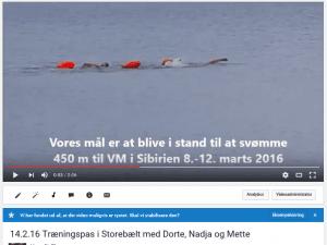 YouTube fra træningpas i Storebælt